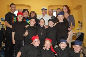 Cobh Youth Services Shanty singers with faciliators from Poland and Ireland in Cobh 2006